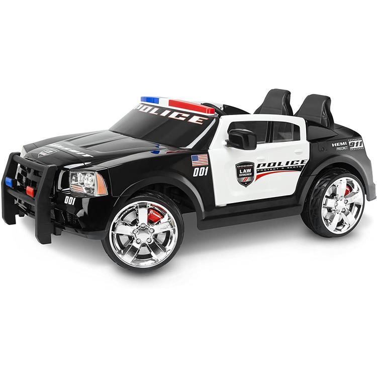 KidTrax Dodge Pursuit Police Car 12-Volt Ride On Toy