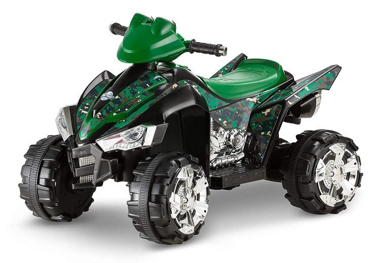 KidTrax ATV Camo Quad Bicycle