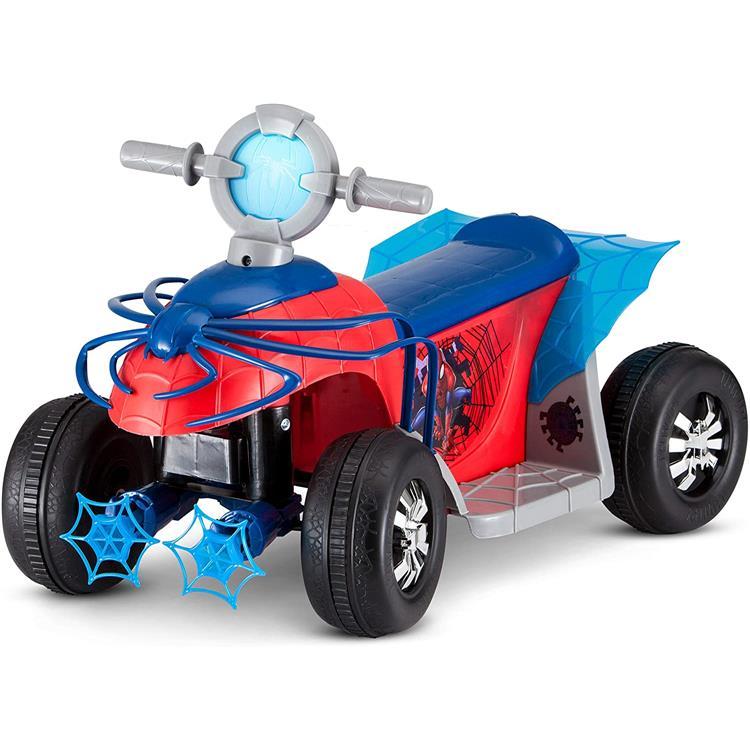 KidTrax Marvel's Spider-Man Premium Toddler Quad, 6-Volt Ride-On Toy