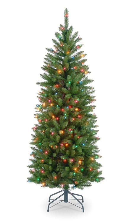 National Tree Kingswood Fir Pencil Tree with Multicolor Lights