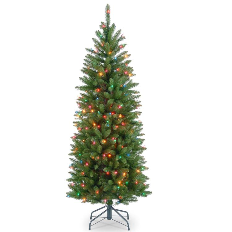 National Tree Kingswood(R) Fir Pencil Tree with Multicolor Lights [Item # KW7-313-45]