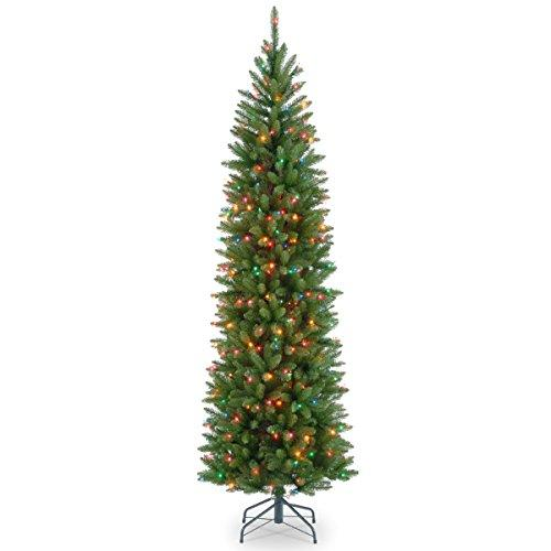 Kingswood Fir Pencil Tree with Multicolor Lights
