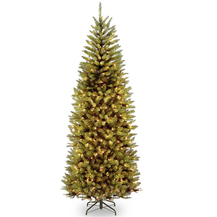 National Tree 7.5 ft PowerConnect Kingswood Fir Slim Tree with Dual Color LED Lights [Item # KW7-D52-75]