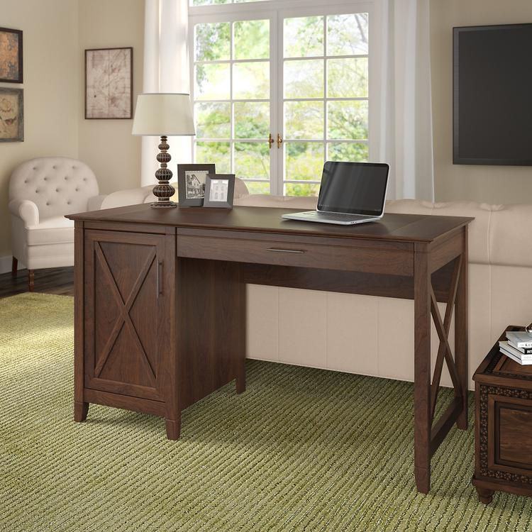 Bush Furniture Key West 54W Computer Desk with Storage