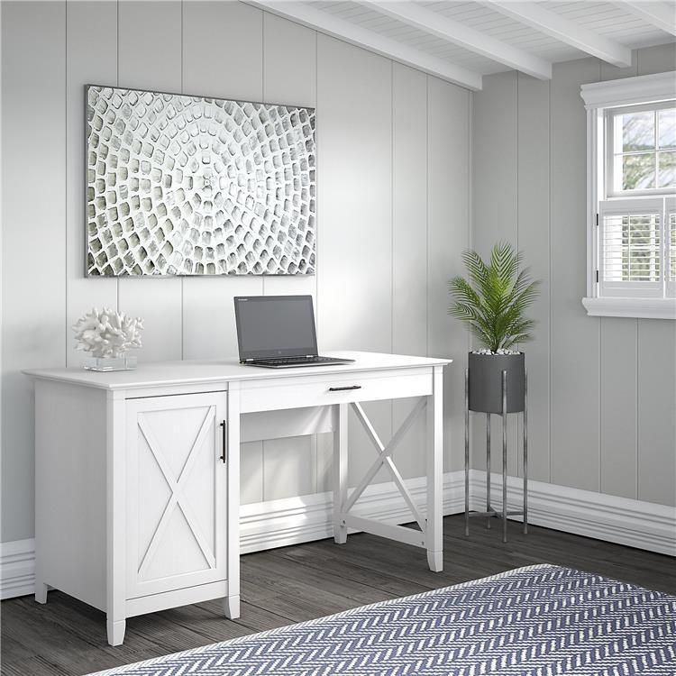 Bush Furniture Key West 54W Computer Desk with Storage