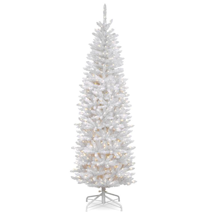 National Tree Kingswood(R) White Fir Pencil Tree with Clear Lights [Item # KWW7-300-65]
