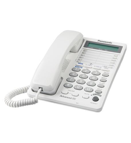 2-Line Feature Phone W/Lcd - White