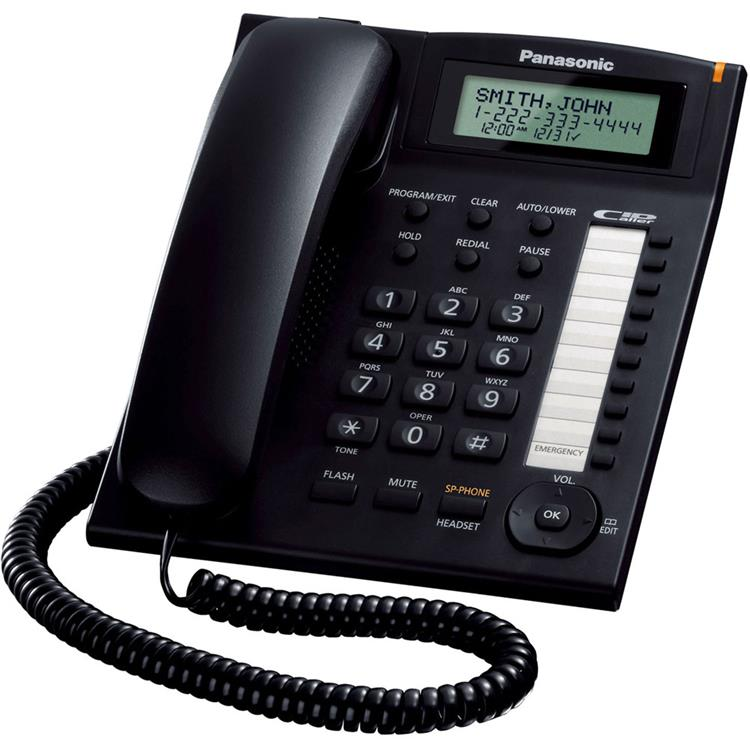 Panasonic 1-Line Integrated Corded Telephone System with Call Waiting Caller ID in Black