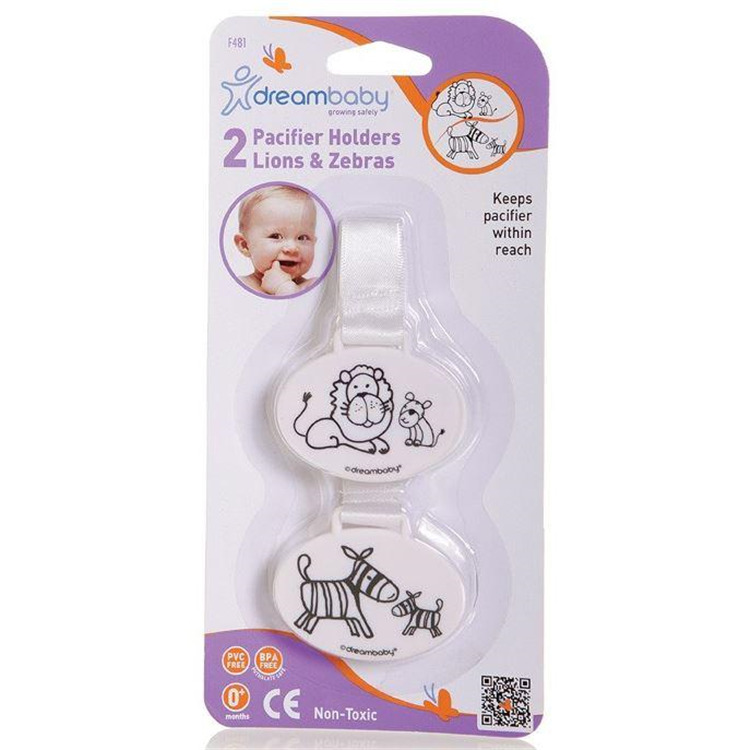 Pacifier Holder - Owl & Whale - 2 Pack