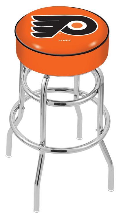 Philadelphia Flyers Bar Stool w/Orange Background