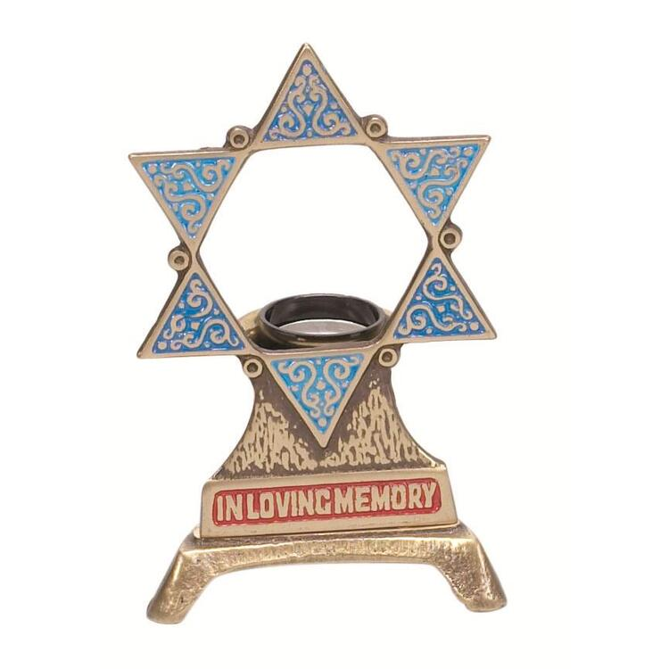 Electric  Yahrzeit Memorial Holder with bulb