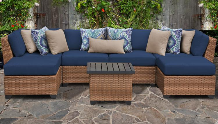 Laguna 7 Piece Outdoor Wicker Patio Furniture Set 07a