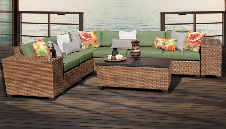 Laguna 9 Piece Outdoor Wicker Patio Furniture Set 09b