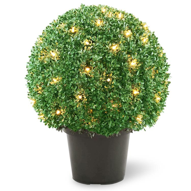National Tree Pre-Lit 22 inch Artificial Mini Boxwood Ball