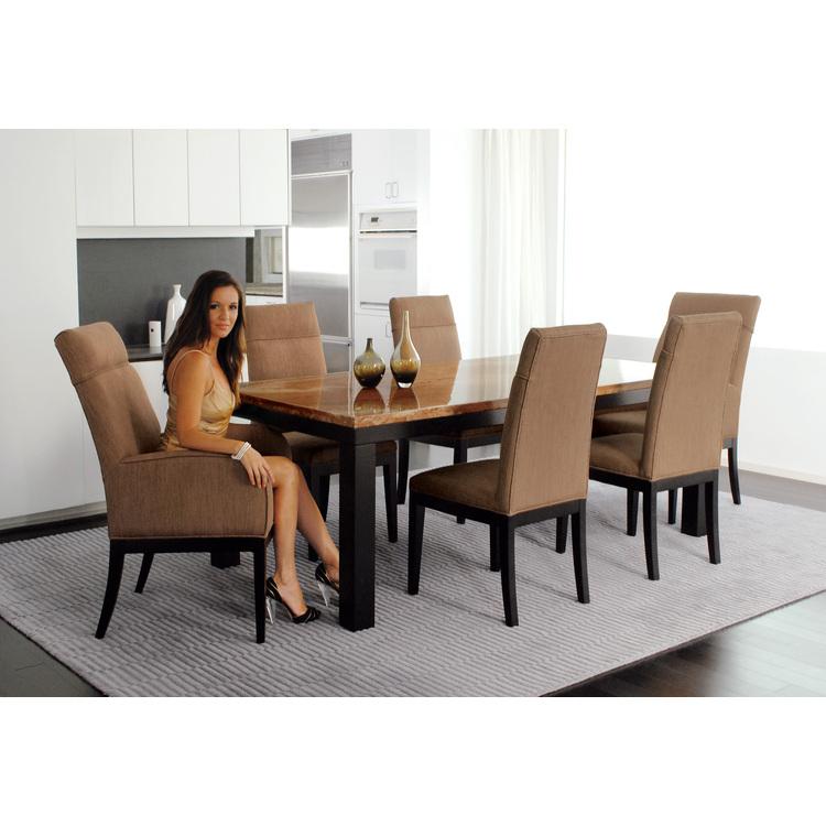 Armen Torino Fabric Arm Chair, Beige Color - Armen Living - LC3102ARFAPE