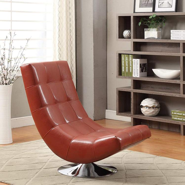 Armen Living Mario Swivel Chair