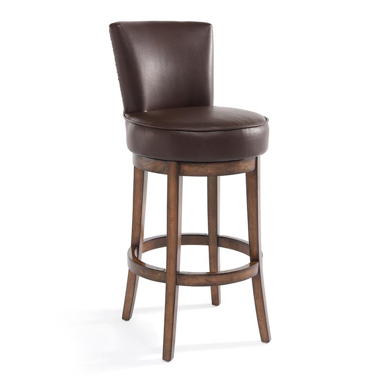 Armen Living Boston Bar Height Swivel Barstool