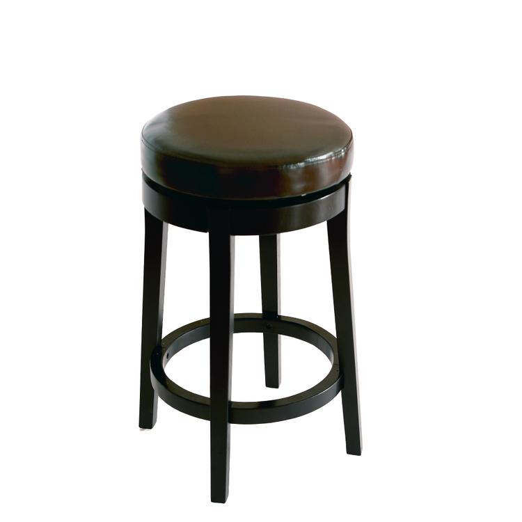 Armen Living Mbs-450 Backless Swivel Barstool