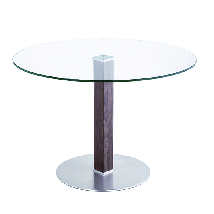 Armen Living Café Dining Table With Glass
