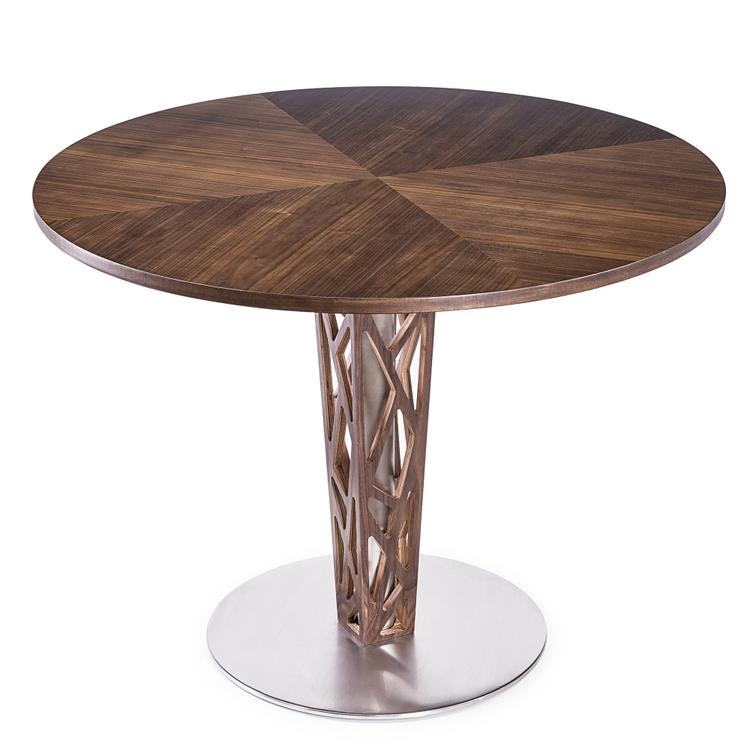 Armen Living Crystal Round Dining Table Column