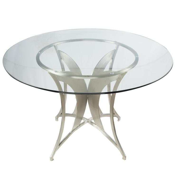 Armen Living Drake Modern Dining Table With Glass