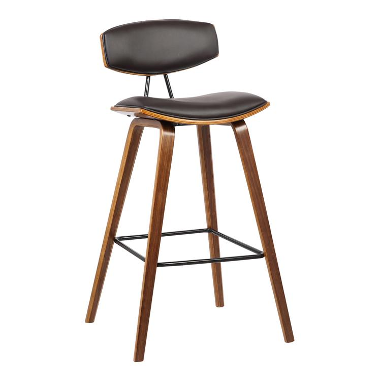 Armen Living Fox Mid-Century Counter Height Barstool