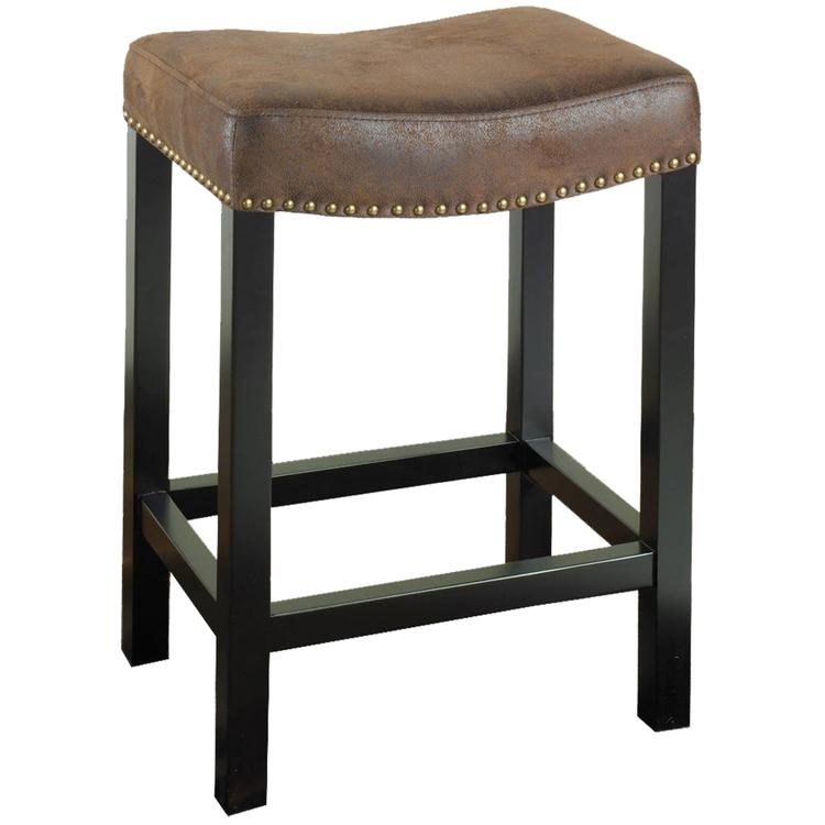 Armen Living Tudor Backless Stationary Barstool