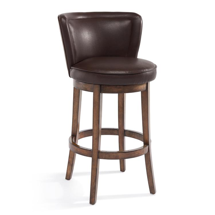 Armen Living Lisbon Bar Height Swivel Barstool