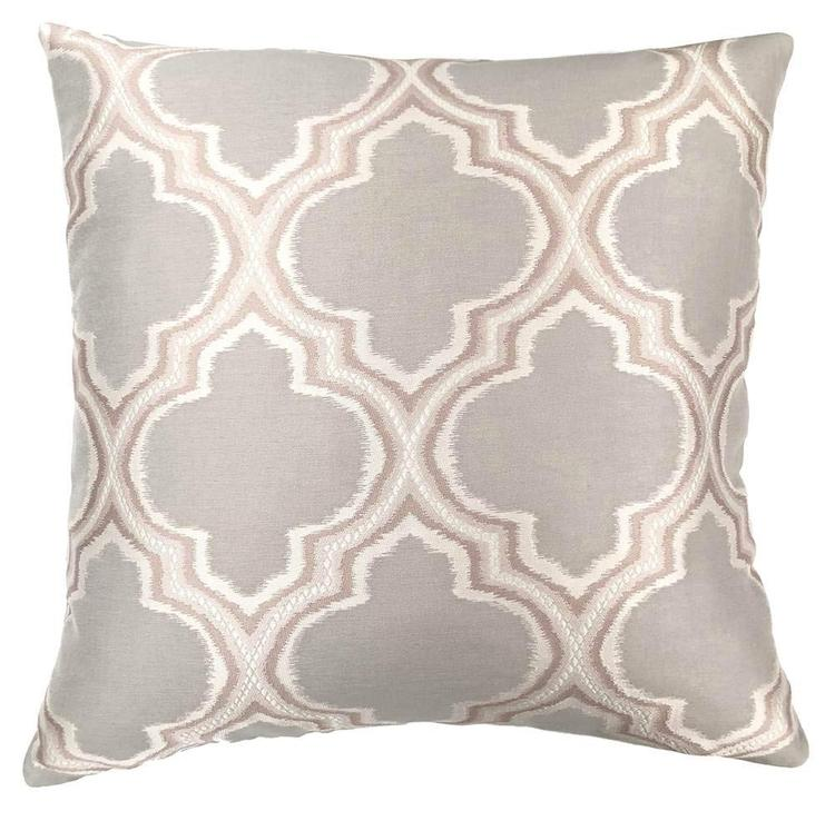 Armen Living Aria Contemporary Decorative Feather and Down Throw Pillow In Dove Jacquard Fabric [Item # LCPIAR20DO]