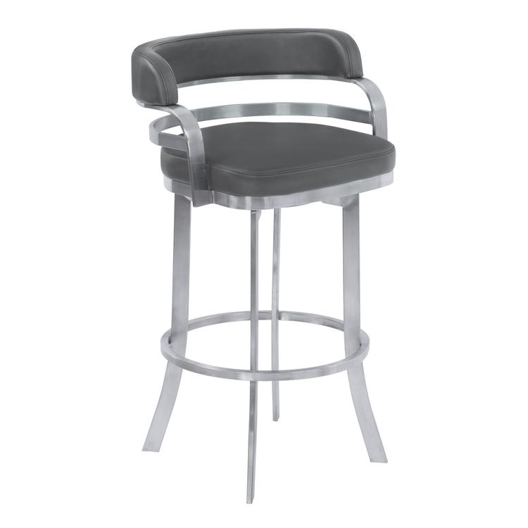 Armen Living Prinz Counter Height Swivel Barstool