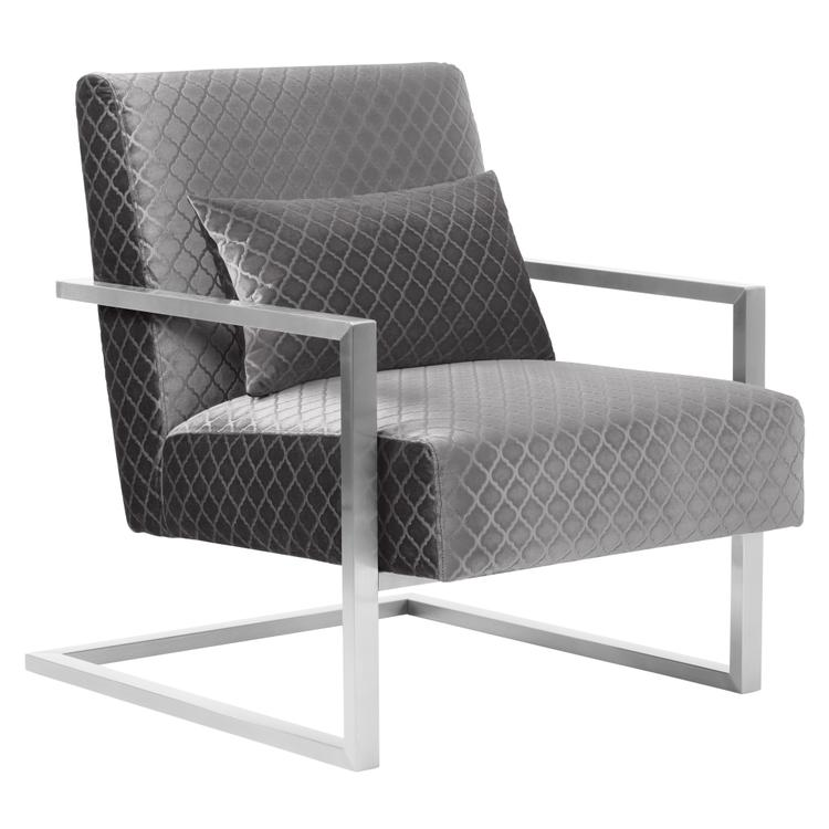 Armen Living Skyline Contemporary Accent Chair