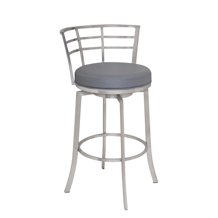 Armen Living Viper Bar Height Swivel Barstool