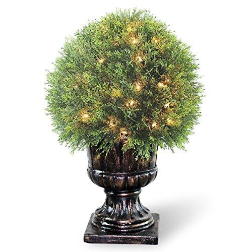 National Tree Pre-Lit Artificial Upright Juniper Ball Topiary