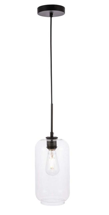 Living District Collier 1 light Black and Clear glass pendant [Item # LD2276BK]