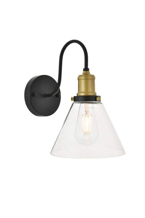 Living District Histoire 1 light brass and black Wall Sconce