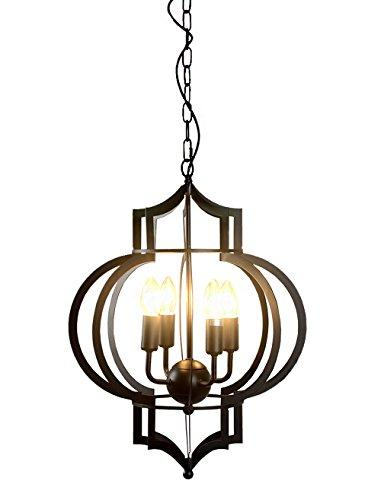 Addison 4-light Black-finished 17-inch Chandelier with Bulbs