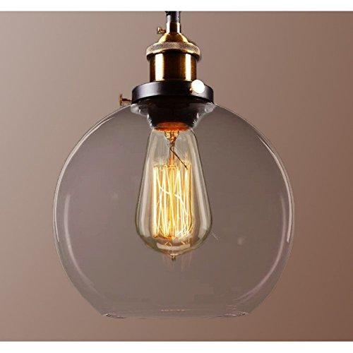 Maisie 8-inch Adjustable Height Edison Pendant with Bulb