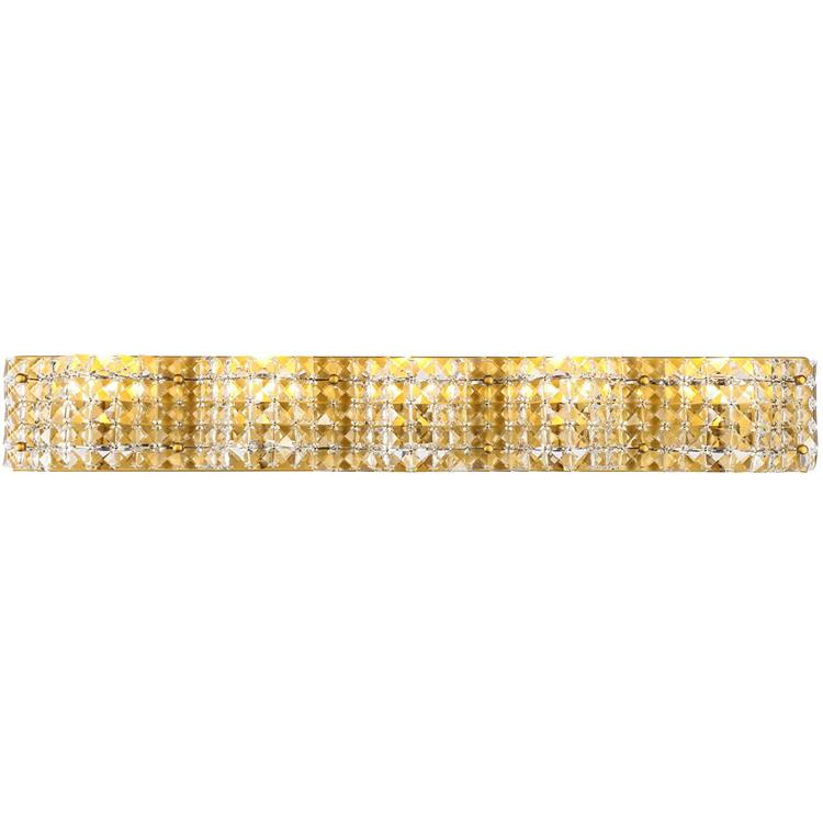 Living District Ollie 5 light Brass and Clear Crystals wall sconce [Item # LD7020BR]