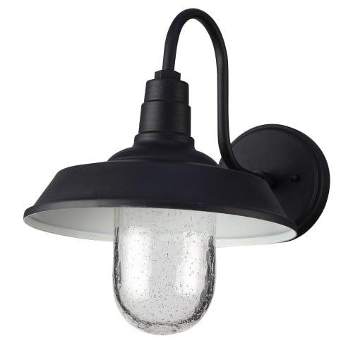 Elegant Lighting LED Outdoor Wall lamp D:10.2 H:12.7 7.5W 600LM 3000K black Finish Acrylic Lens