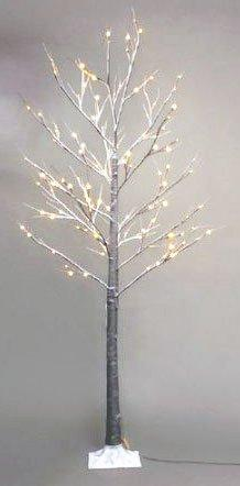 7ft Brown Artificial Snow Christmas tree with 120 LEDs