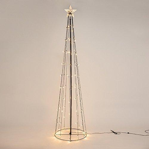 8ft Black Artificial Star Christmas tree with 130 LEDs
