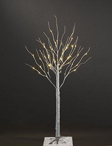 3ft White Artificial Birch Christmas tree with 36 LEDs