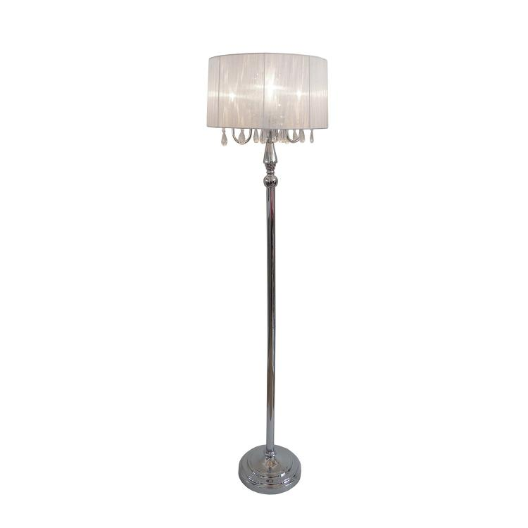 All the Rages Shade Floor Lamp with Hanging Crystals