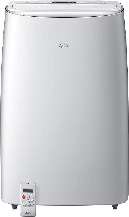 LG 115V Dual Inverter Portable Air Conditioner with Wi-Fi Control in White for Rooms up to 500 Sq. Ft.