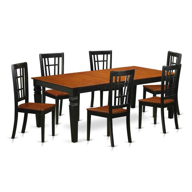 Dining Room Set - Dining Table And Dining Chairs [Item # LGNI7-BCH-W]