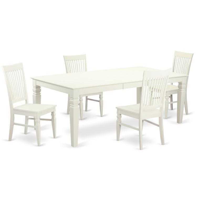 Dining Room Set With A Dining Table And Dining Chairs [Item # LGWE5-LWH-W]