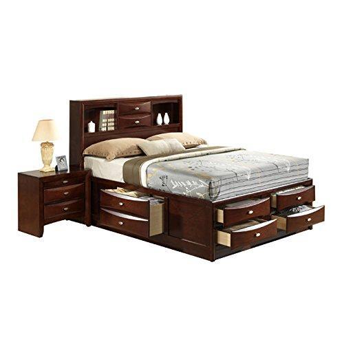 Global Furniture Queen Bed New Merlot