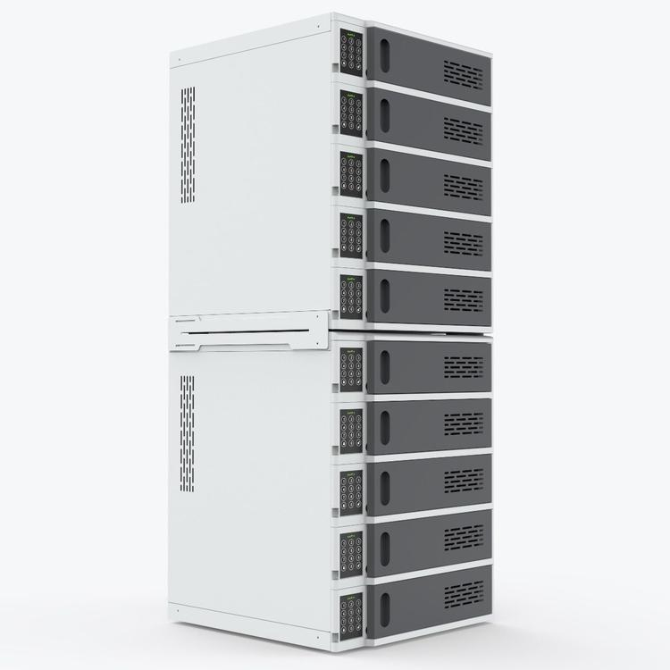 Luxor 10-Bay Charging Locker for Mobile Devices
