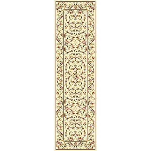 Traditional Rug - Lyndhurst Polypropylene, 2150Gr/Sqm -Ivory/Ivory