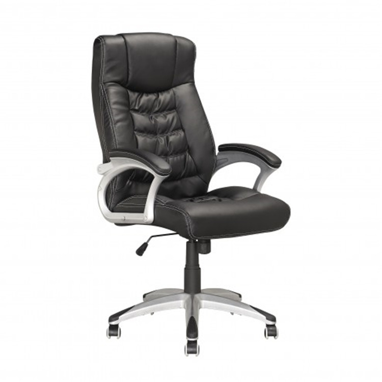 Tall Black Leatherette Chair